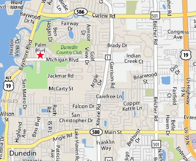 Map Of Dunedin Florida.Dunedin Hair Design
